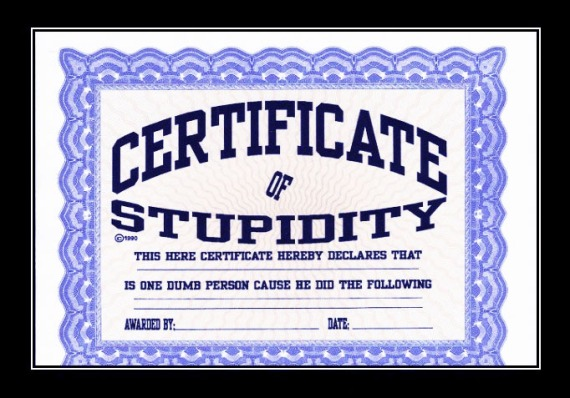 certificate-of-stupidity